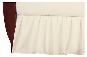 Brixy 100% Cotton Percale Crib Skirt - Solids