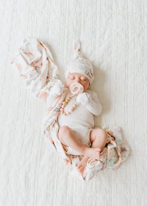Copper Pearl Knit Swaddle Blanket - Enchanted