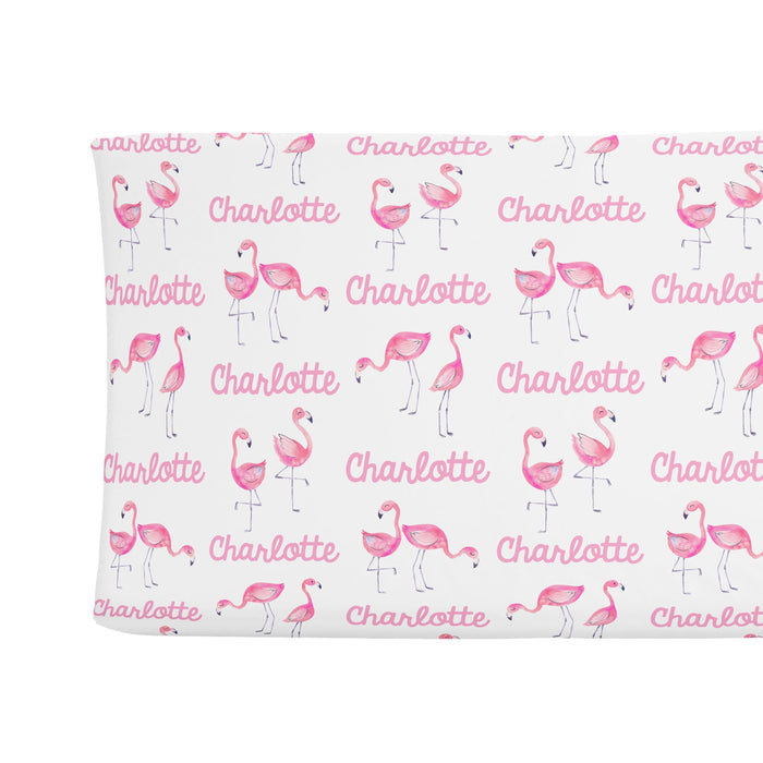 Sugar + Maple Changing Pad Cover - Flamingo