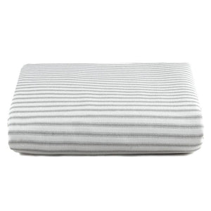 Liz & Roo Gray Classic Stripe Crib Sheet