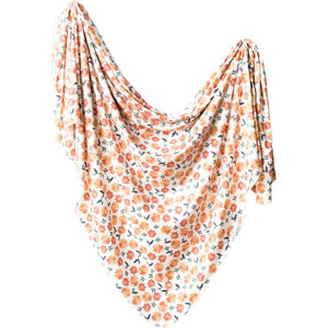 Copper Pearl Knit Swaddle Blanket - Hazel