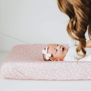 Copper Pearl Premium Diaper Changing Pad Cover - Lucy