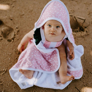 Copper Pearl Muslin Hooded Towel - Lucy