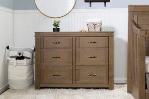 Million Dollar Baby Classic  Wesley Farmhouse 6-Drawer Assembled Double Dresser
