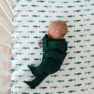 Copper Pearl Premium Crib Sheet - Pacific