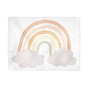 Sugar + Maple Neutral Rainbow Milestone Background Blanket