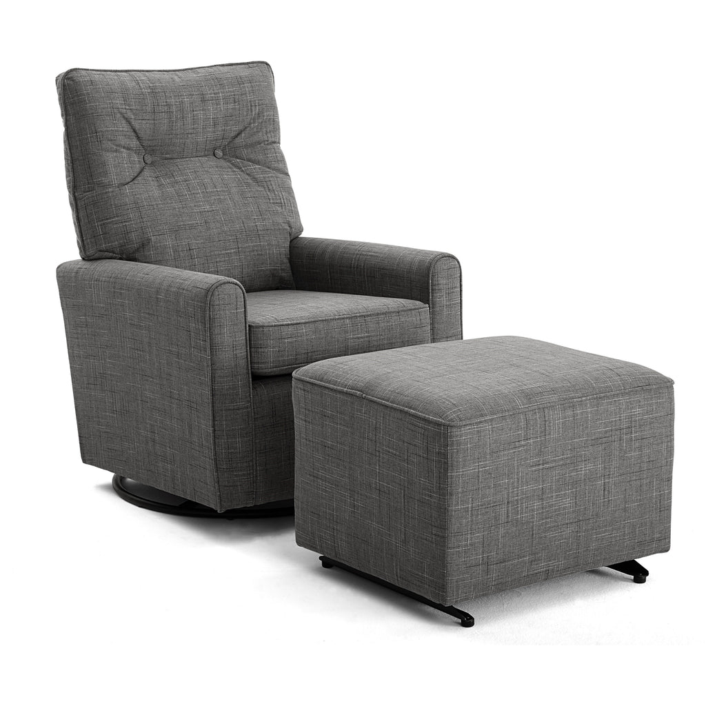 Phylicia Small Scale Swivel Glider Chair with Tufted Back