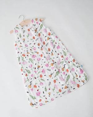 Little Unicorn Cotton Muslin Sleep Bag Small- Berry Bloom