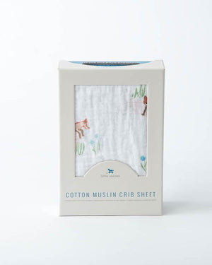 Little Unicorn Cotton Muslin Crib Sheet - Fox