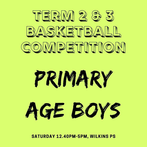 SEASON 2: Term 2 & 3 Primary Age Boys Development Competition - Saturday Wilkins PS