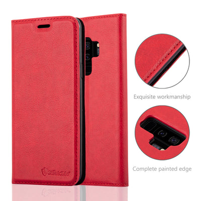 Anti-Radiation RFID Samsung Wallet Case (Red, Samsung Galaxy S9+)