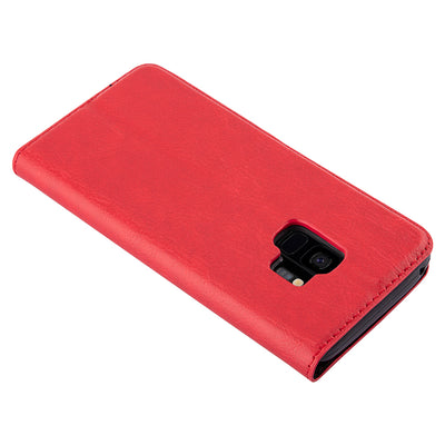 Anti-Radiation RFID Samsung Wallet Case (Red, Samsung Galaxay S9)