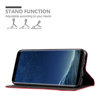 Anti-Radiation RFID Samsung Wallet Case (Red, Samsung Galaxy S8+)