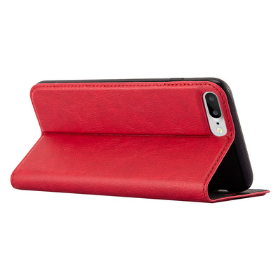 Anti-Radiation RFID iPhone Wallet Case (Red, iPhone 7/8 Plus)