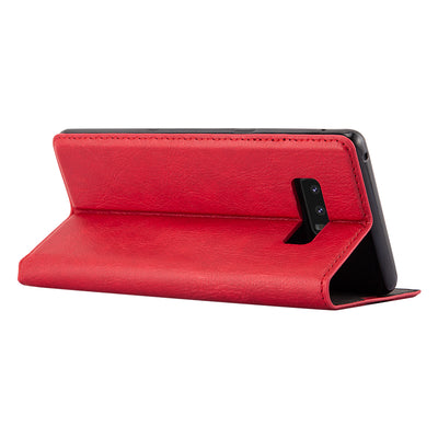 Anti-Radiation RFID Samsung Wallet Case (Red, Samsung Note 8)