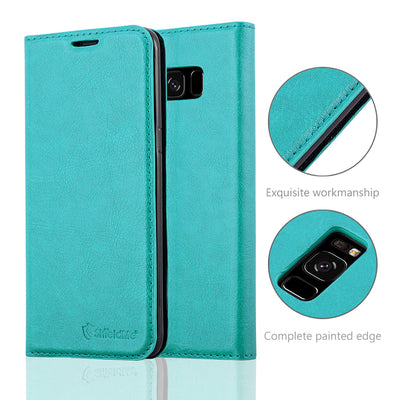 Anti-Radiation RFID Samsung Wallet Case (Teal, Samsung Galaxy S8+)