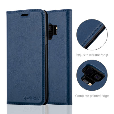 Anti-Radiation RFID Samsung Wallet Case (Navy Blue, Samsung Galaxay S9)