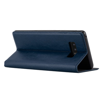 Anti-Radiation RFID Samsung Wallet Case (Navy Blue, Samsung Note 8)