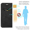 Anti-Radiation RFID iPhone Wallet Case (Black, iPhone 7/8 Plus)