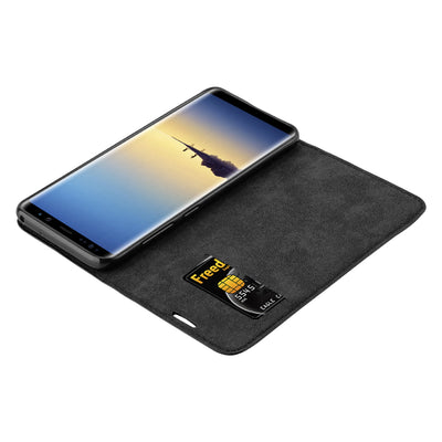 Anti-Radiation RFID Samsung Wallet Case (Black, Samsung Note 8)