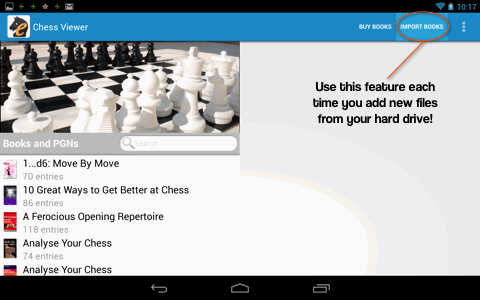 Everyman Chess Viewer for Android devices