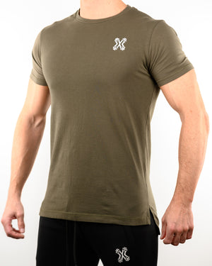 Men's Fish-Tail Lifestyle Tee - Olive