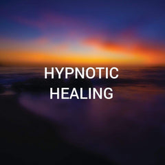 A hypnotic seascape at sundown withe the words Hypnotic Healing