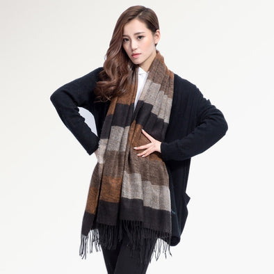 PLAID COLOR MULTICOLOR SCARF WOMEN FASHION MAKEUP !! - LovelySelena.Com
