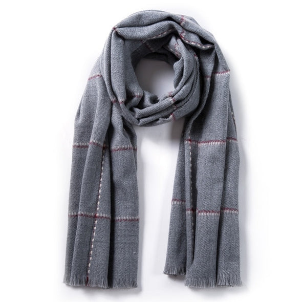 SOFT PLAID WOMEN SCARF LADIES FASHION MAKEUP !!!! - LovelySelena.Com