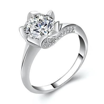DELUXE BIG CUBIC ZIRCONIA RING - LovelySelena.Com