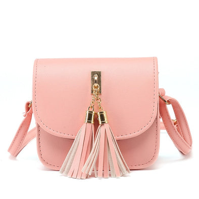 UNIQUE CANDY COLOR TASSEL MESSENGER BAG !!!