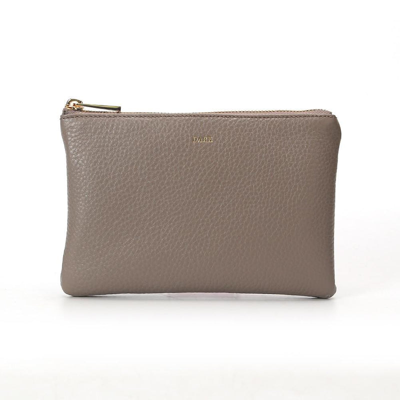 LEATHER SMALL POUCH GREY