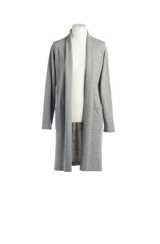 CASHMERE CARDIGAN GREY