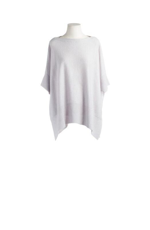 CASHMERE SWEATER SILVER GREY