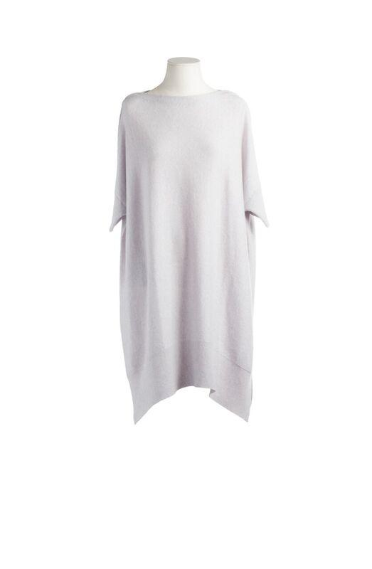 CASHMERE LONG SWEATER SILVER GREY