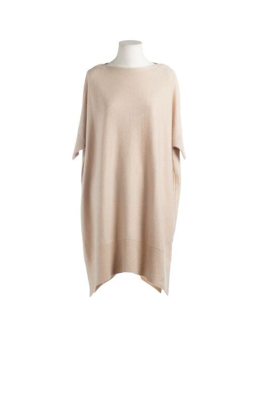 CASHMERE LONG SWEATER GOLDEN BEIGE