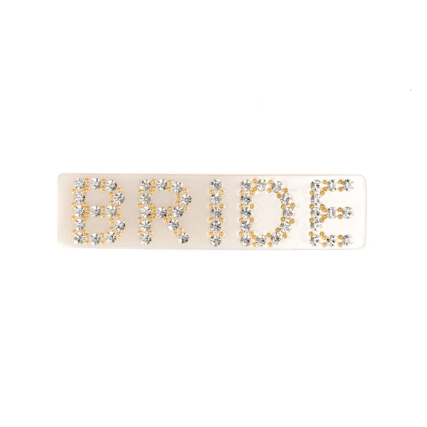BRIDE HAIR CLIP LARGE SAND