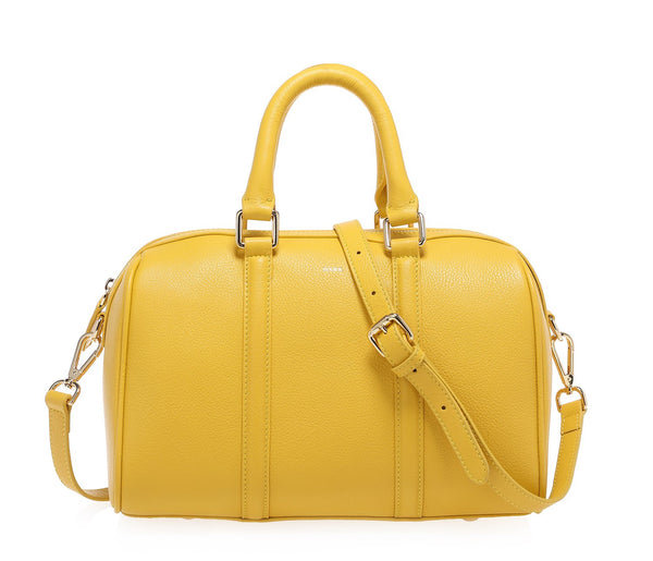 LEATHER BOWLER SMALL YELLOW
