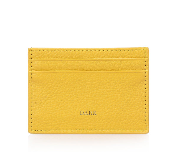 LEATHER CARD HOLDER YELLOW