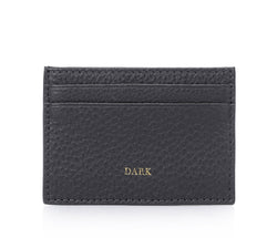 LEATHER CARD HOLDER DARK GREY