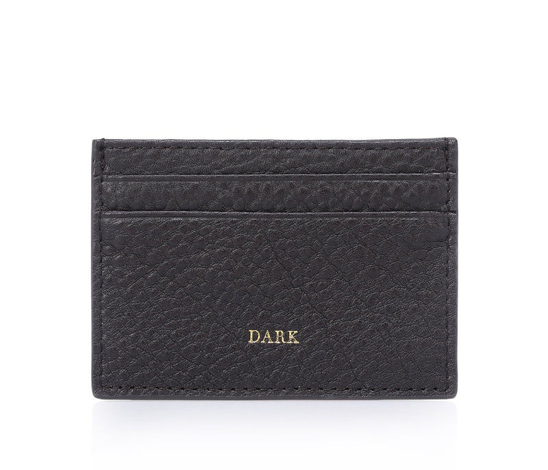 LEATHER CARD HOLDER CHOCOLATE BROWN