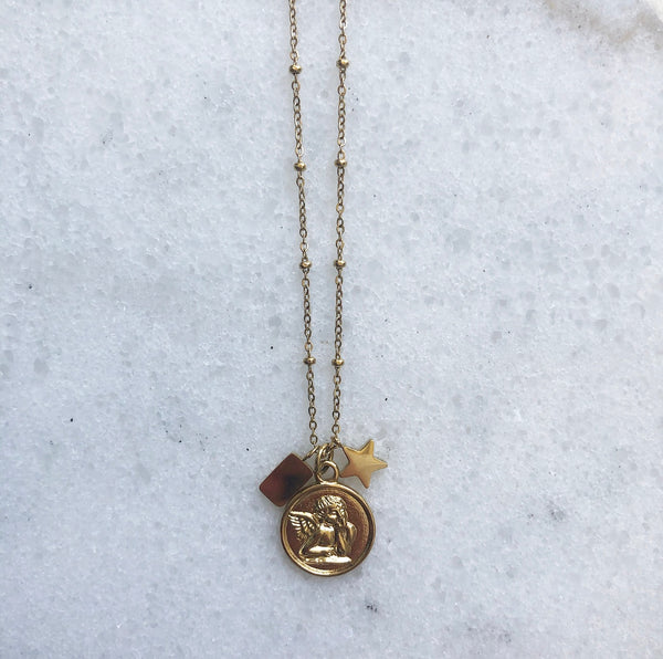 ANGEL COIN NECKLACE GOLD