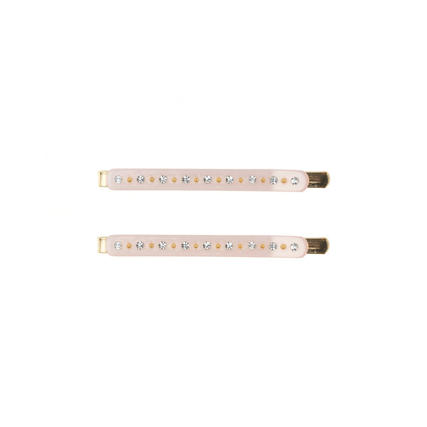 CRYSTAL BOBBY PINS 2 PK PALE ROSE