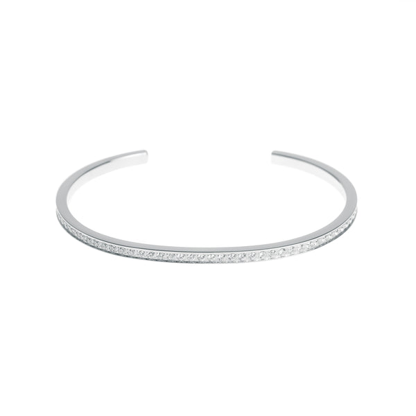CRYSTAL BANGLE SILVER