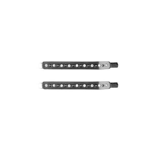 CRYSTAL BOBBY PINS 2 PK CHARCOAL