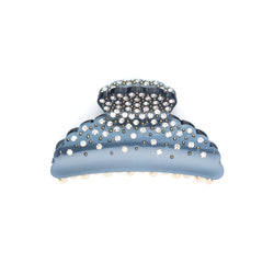 CRYSTAL HAIR CLAW LARGE STONE BLUE