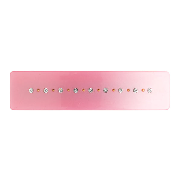 CRYSTAL HAIR CLIP LARGE PALE PINK