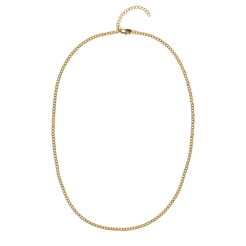 CUBAN CHAIN NECKLACE EXTRA THIN GOLD