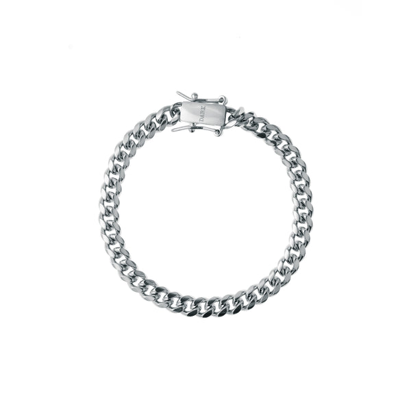 CUBAN CHAIN BRACELET THIN SILVER