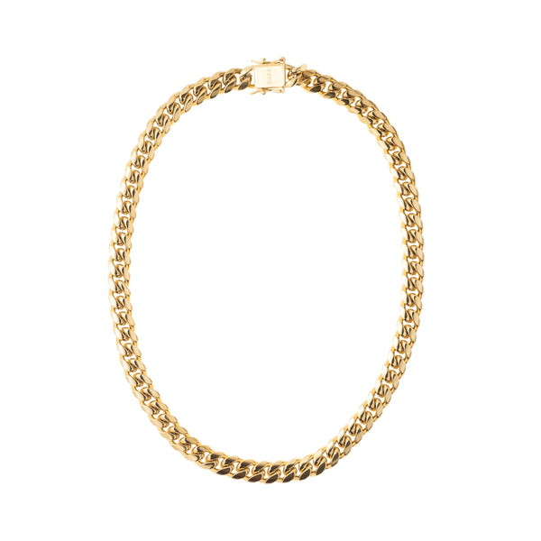 CUBAN CHAIN NECKLACE GOLD